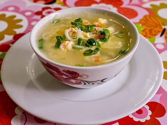 14 -  Sopa de huevo con verdura
