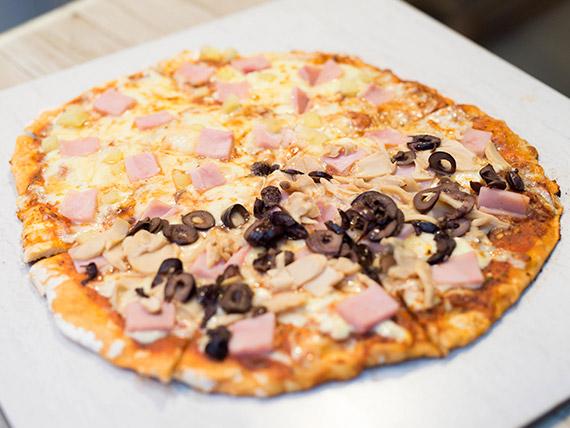 Pizza mitad y mitad especial 32 cm