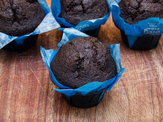 Muffin tulipa de chocolate