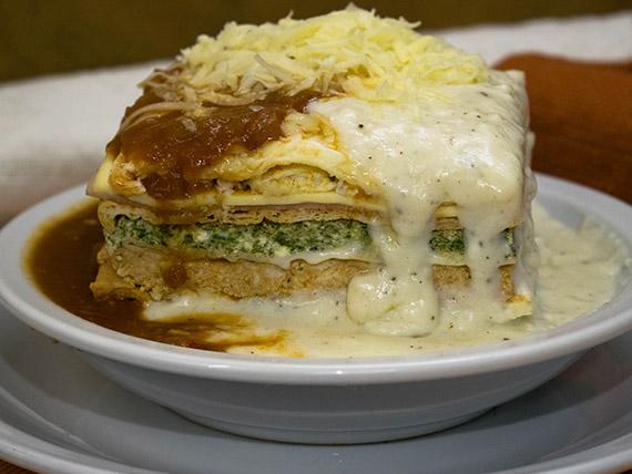 Súper lasagna tricolor