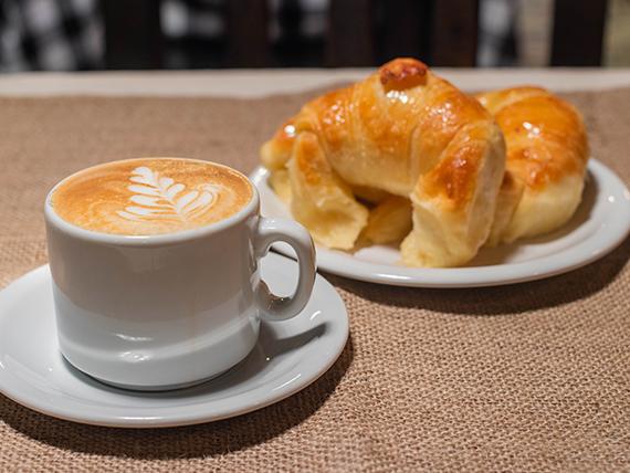 Desayuno - Café con leche + 2 medialunas