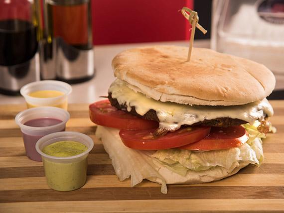 Sándwich de hamburguesa vegetariana