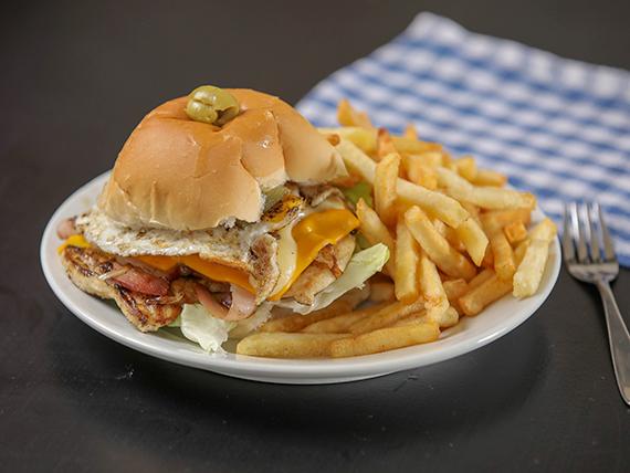 Promo 5 - Chivito de pollo a la plancha y papas fritas