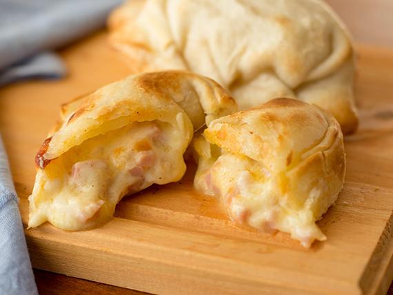 Canastita de jamón y queso