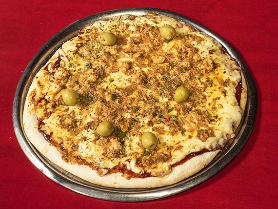 Pizza con pollo a la barbacoa grande