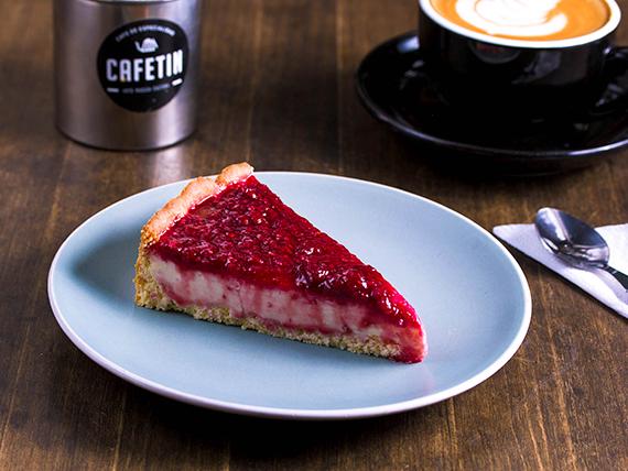 Cheesecake con frambuesa