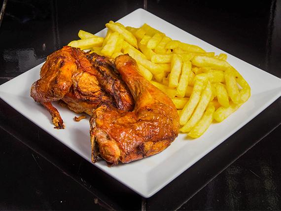 Promo 4 - 1/2 pollo + papas fritas