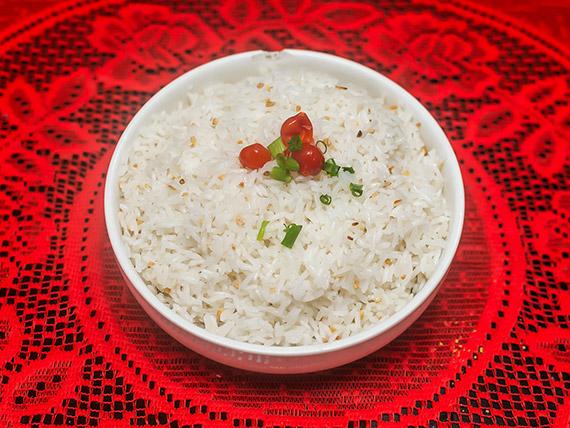 Porção de arroz