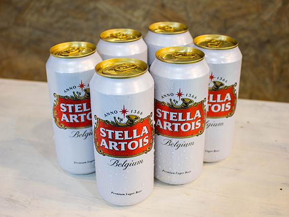 Promo 8 - 6 latas de cerveza Stella Artois 500 ml