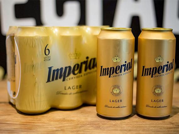 Promo 32 - 8 latas de cerevezas imperial lager 500 ml