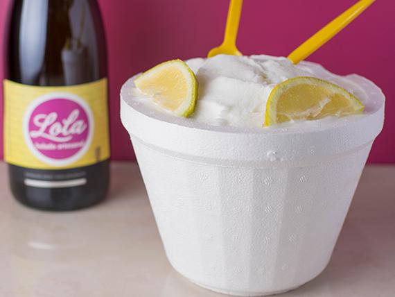 Promo - Helado de limón 1 Kg + Champagne de regalo