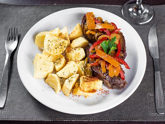 Carne al horno con papas al horno
