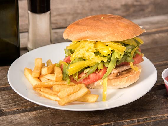 Sándwich chacarero (16 cm)