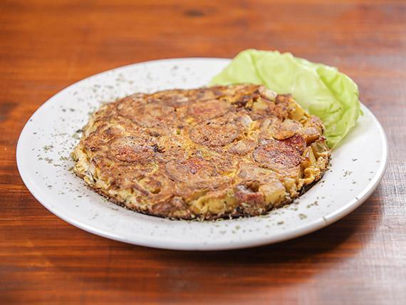 Tortilla a la italiana con peperoni