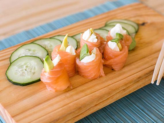 Geishas de salmón (4 unidades)