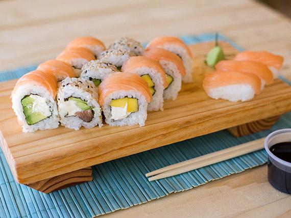 Combinado de salmón - 15 piezas