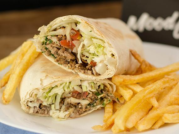 Combo sultana - Shawarma + bandeja de papas fritas