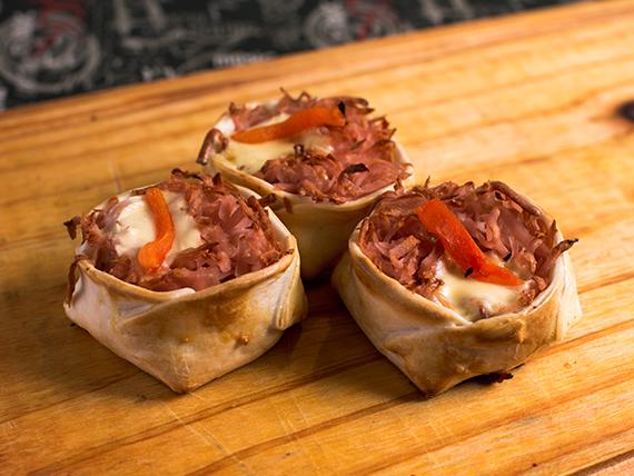 01 - Canastita de jamón y queso