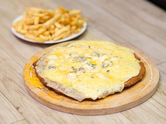 Milapizza cuatro quesos con con guarnición