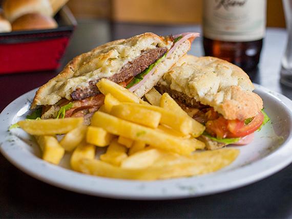 Sándwich de hamburguesa completa
