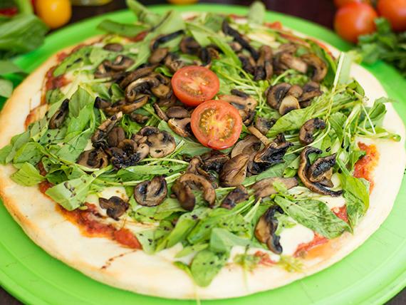 Pizza funghi e rocula