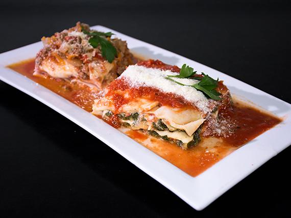 Lasagnas de verdura y queso