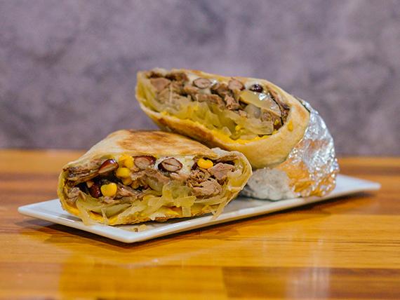 Burrito texano XL con frijoles