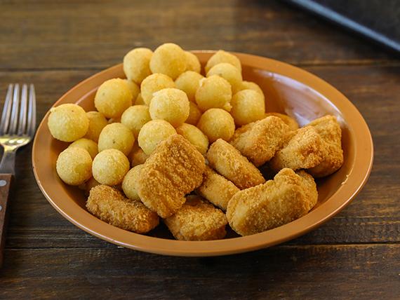 Nuggets con papas noisette
