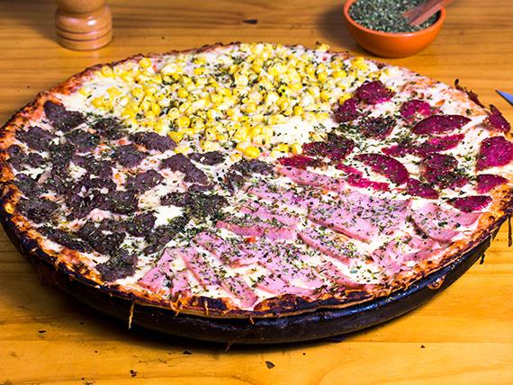 Pizza cuatro sabores