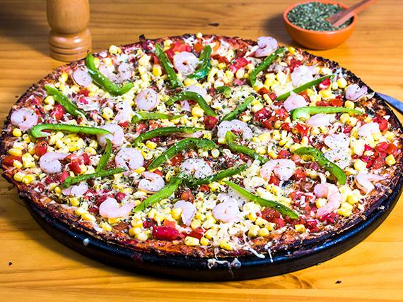 Pizza con camarón
