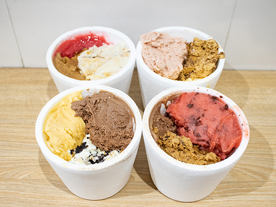 Promo exclusiva - 4x3 1/4 kg de helado