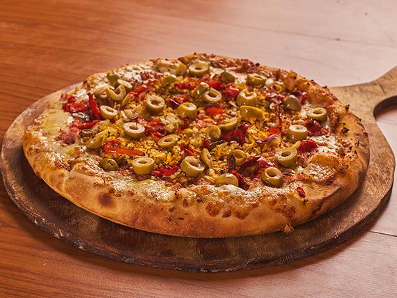 Pizzeta especial con borde relleno (4 porciones)
