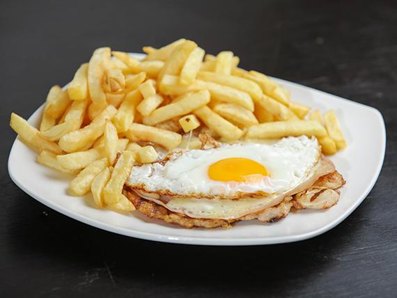 Menú fijo - Chivito de pollo al plato con guarnición