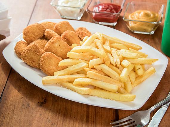 Combo - Nuggets de pollo + papas fritas