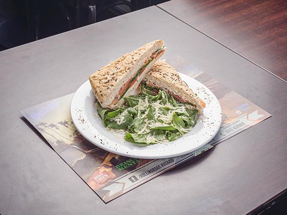 Salmón sándwich