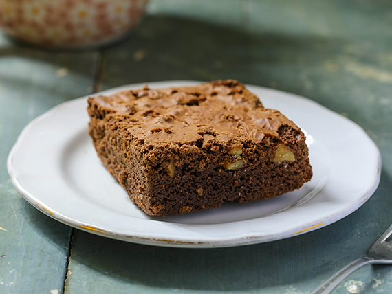 Brownie de chocolate y nueces pecán