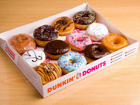 Promo - 12 donuts + 2 bebidas 1 L