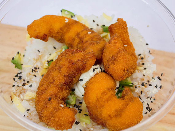 Sushi salad Ebi furai