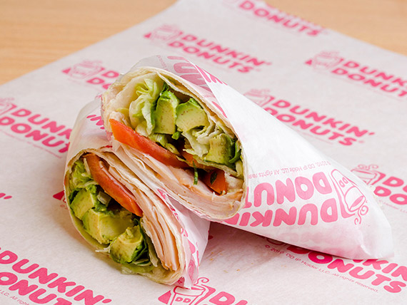 Wrap fresh gourmet pavo