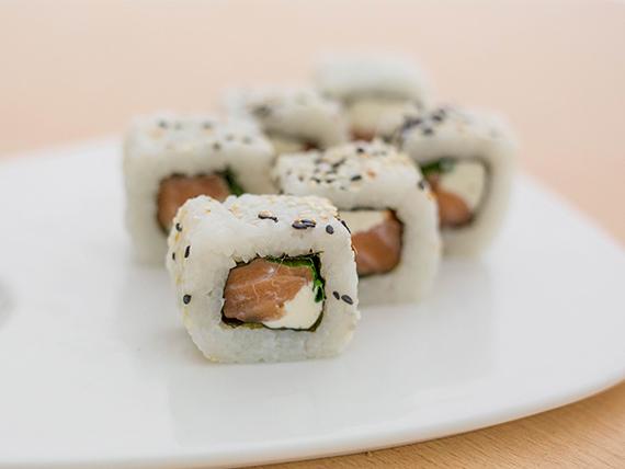 Green salmon roll