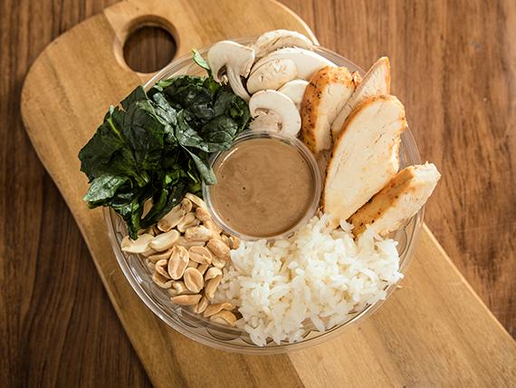 Rice bowl (ensalada de arroz) estación Don Muang