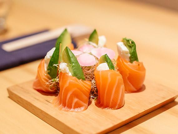 Geishas de salmón especial