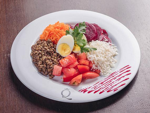 Menú diario salad bar sin hojas