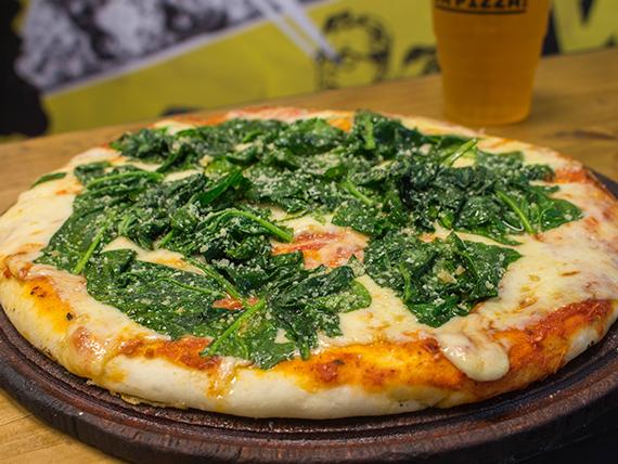 Pizza con espinacas