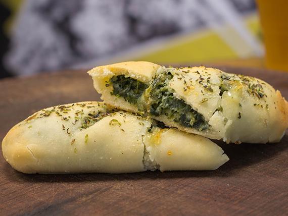 Stromboli de espinaca y queso