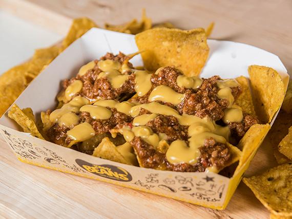 Nachos chili queso (tamaño S)