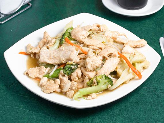 Chapsui de pollo con arroz