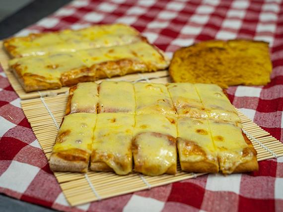Promo 2 - 2 porciones de pizza con muzzarella + fainá