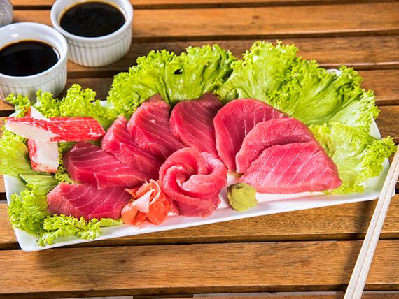 70 -  Sashimi de salmón (9 cortes)