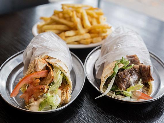 Promo 2 - 2 shawarma + papas fritas grandes